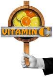 Βιταμίνη C - σημάδι με το χέρι του αρχιμάγειρα Στοκ Εικόνες