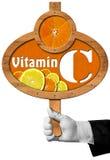 Βιταμίνη C - σημάδι με το χέρι του αρχιμάγειρα Στοκ φωτογραφίες με δικαίωμα ελεύθερης χρήσης