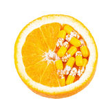 Βιταμίνη C ως πορτοκαλιά φρούτα Στοκ φωτογραφίες με δικαίωμα ελεύθερης χρήσης