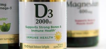 Βιταμίνη D3 Στοκ εικόνα με δικαίωμα ελεύθερης χρήσης