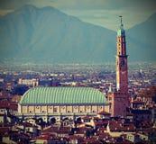 ΒΙΤΣΕΝΤΣΑ στην Ιταλία και το μνημείο αποκαλούμενο πνεύμα ΒΑΣΙΛΙΚΩΝ PALL στοκ εικόνα
