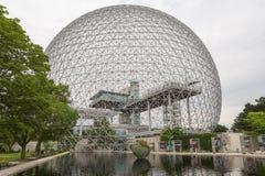 Βιόσφαιρα στο Μόντρεαλ σε Parc Jean-Drapeau, Κεμπέκ, Καναδάς Στοκ εικόνες με δικαίωμα ελεύθερης χρήσης