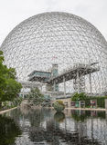Βιόσφαιρα στο Μόντρεαλ σε Parc Jean-Drapeau, Κεμπέκ, Καναδάς Στοκ φωτογραφία με δικαίωμα ελεύθερης χρήσης