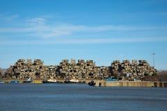 Βιότοπος 67 ιστορικά κτήρια στο Μόντρεαλ Στοκ φωτογραφία με δικαίωμα ελεύθερης χρήσης