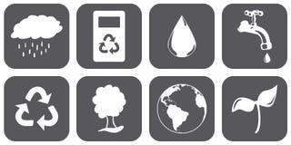 Βιώσιμα εικονίδια Στοκ φωτογραφίες με δικαίωμα ελεύθερης χρήσης