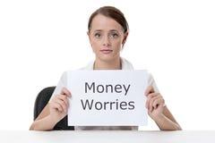 Βοήθεια ανάγκης ανησυχιών χρημάτων στοκ εικόνα με δικαίωμα ελεύθερης χρήσης