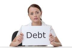 Βοήθεια ανάγκης ανησυχιών χρημάτων στοκ φωτογραφία