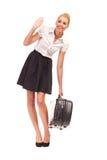 Βοήθεια ανάγκης με τη βαριά τσάντα. Στοκ εικόνα με δικαίωμα ελεύθερης χρήσης