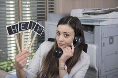 Βοήθεια για τον πελάτη, ανίσχυρος γραμματέας στοκ εικόνα με δικαίωμα ελεύθερης χρήσης
