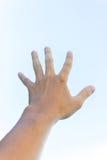 Βοήθεια σημαδιών χεριών Στοκ φωτογραφία με δικαίωμα ελεύθερης χρήσης