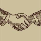 βοήθεια χεριών Αντιπρόσωπος και συμφωνία Διανυσματική απεικόνιση