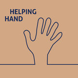 βοήθεια χεριών απεικόνιση αποθεμάτων