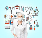 βοηθήστε ιατρικό Στοκ Φωτογραφίες
