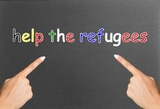 Βοηθήστε τους πρόσφυγες Στοκ Εικόνες