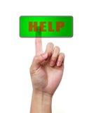 ΒΟΗΘΕΙΑ χεριών και κουμπιών Στοκ φωτογραφία με δικαίωμα ελεύθερης χρήσης