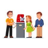 Βοηθητικός παρουσιάζοντας αναμίκτης κουζινών καταστημάτων στην οικογένεια ελεύθερη απεικόνιση δικαιώματος