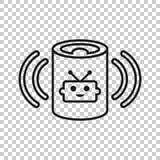 Βοηθητικό εικονίδιο φωνής στο διαφανές ύφος Το έξυπνο σπίτι βοηθά τη διανυσματική απεικόνιση στο απομονωμένο υπόβαθρο Επιχείρηση  απεικόνιση αποθεμάτων