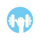 Βοηθητικό εικονίδιο γυμναστικής βάρους ανυψωτικό διανυσματική απεικόνιση