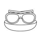 Βοηθητικό εικονίδιο διακοπών γυαλιών ελεύθερη απεικόνιση δικαιώματος