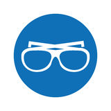 Βοηθητικό εικονίδιο διακοπών γυαλιών απεικόνιση αποθεμάτων