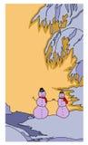 βοηθητικό λευκό χιονανθρώπων Χριστουγέννων ανασκόπησης Στοκ Εικόνες