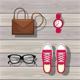 βοηθητικό womenswear σχέδιο διανυσματική απεικόνιση