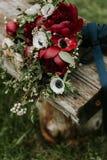 Βοημίας ανθοδέσμη λουλουδιών Στοκ εικόνα με δικαίωμα ελεύθερης χρήσης