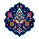 Βοημίας ινδική τυπωμένη ύλη Mandala Εκλεκτής ποιότητας Henna ύφος δερματοστιξιών Στοκ Φωτογραφίες