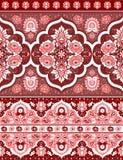 Βοημίας ινδική τυπωμένη ύλη Mandala Εκλεκτής ποιότητας Henna ύφος δερματοστιξιών Στοκ Φωτογραφία