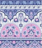 Βοημίας ινδική τυπωμένη ύλη Mandala Εκλεκτής ποιότητας Henna ύφος δερματοστιξιών Στοκ φωτογραφίες με δικαίωμα ελεύθερης χρήσης