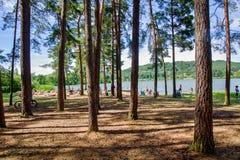 Βοημίας παράδεισος - λίμνη Komarovsky, στρατόπεδο Peklo στοκ φωτογραφία με δικαίωμα ελεύθερης χρήσης