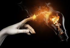 βολβός που φωτίζεται Στοκ εικόνες με δικαίωμα ελεύθερης χρήσης