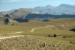βολιβιανός βρώμικος δρόμ&omi Στοκ εικόνα με δικαίωμα ελεύθερης χρήσης