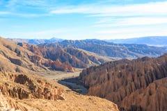 Βολιβιανό φαράγγι κοντά σε Tupiza, Βολιβία Στοκ εικόνες με δικαίωμα ελεύθερης χρήσης