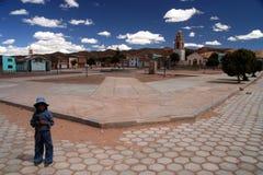 βολιβιανό χωριό κοριτσιών στοκ φωτογραφίες