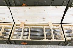 Βομβίδες με πυραυλική προώθηση σε ένα κιβώτιο Στοκ Φωτογραφίες
