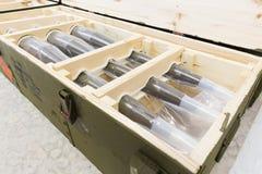 Βομβίδες με πυραυλική προώθηση σε ένα κιβώτιο Στοκ Εικόνες