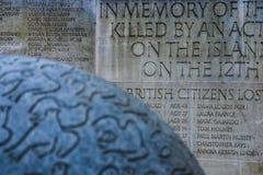 Βομβαρδίζοντας μνημείο του Μπαλί στοκ εικόνα