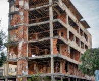 Βομβαρδισμένα κτήρια στο Μοστάρ Βοσνία στοκ εικόνες