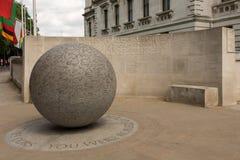 Βομβαρδίζοντας μνημείο του Μπαλί στοκ εικόνες