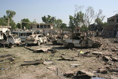Βομβαρδισμός ξενοδοχείων του Πακιστάν Στοκ φωτογραφία με δικαίωμα ελεύθερης χρήσης