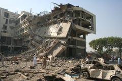 Βομβαρδισμός ξενοδοχείων του Πακιστάν στοκ φωτογραφία