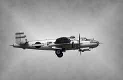 Βομβαρδιστικό αεροπλάνο εποχής Δεύτερου Παγκόσμιου Πολέμου Στοκ Εικόνες