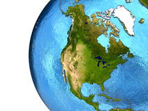 Βορειοαμερικανική ήπειρος στη γη Στοκ Εικόνες