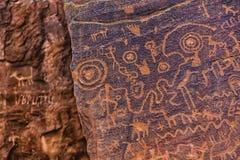 Βορειοαμερικανικό Petroglyph Στοκ Εικόνες
