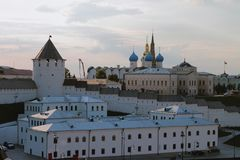 Βορειοανατολικό μέρος Kazan Κρεμλίνο Ταταρία, Ρωσία Στοκ εικόνες με δικαίωμα ελεύθερης χρήσης