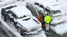 βορειοανατολικό snowstorm πτώσ&eta Στοκ Εικόνες