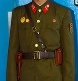 Βορειοκορεατικός στρατιώτης, Panmunjon, Βόρεια Κορέα Στοκ Φωτογραφία