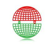Βορράς και Νότος μαγνητικός Πολωνός Στοκ εικόνες με δικαίωμα ελεύθερης χρήσης
