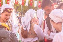 Βοσνιακοί λαϊκοί χορευτές στην εθνικές κυριαρχία και την ημέρα παιδιών ` s - Τουρκία Στοκ Εικόνα